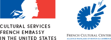 French Embassy Cultural Services and French Cultural Center logos