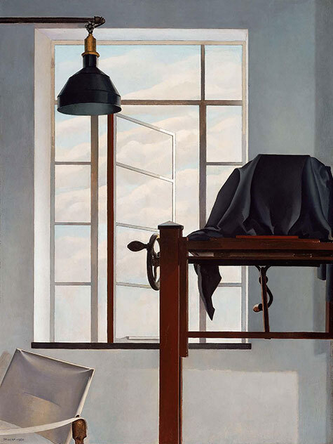 Painting by Charles Sheeler of the interior of the artist's studio in New York