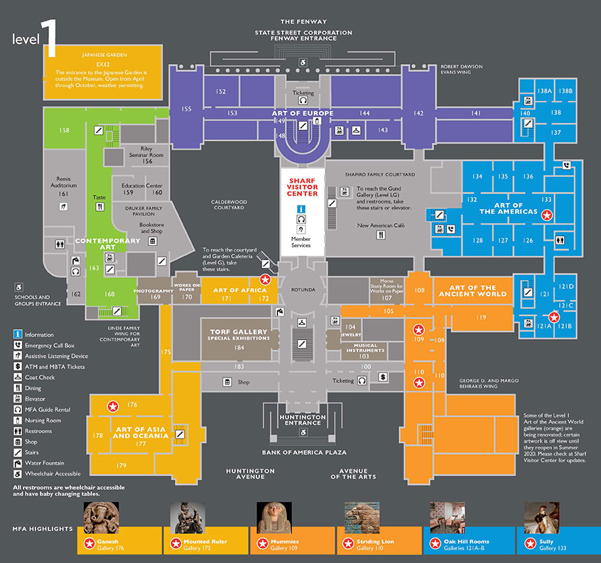Floorplan of Museum's level 1