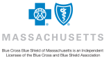 Blue Cross Blue Shield logo; Blue Cross Blue Shield of Massachusetts is an Independent Licensee of the Blue Cross and Blue Shield Association.