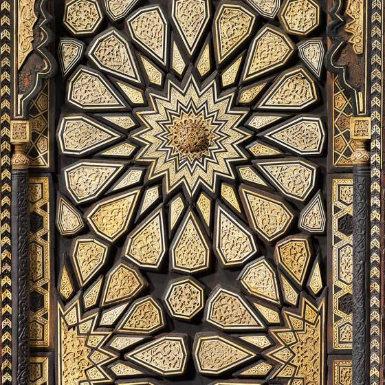 Detail of minbar door