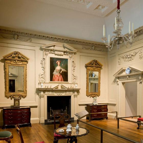 View of Newland House Drawing Room