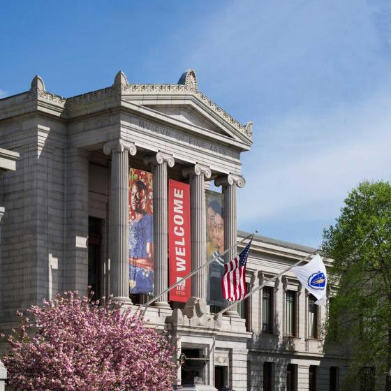 view of Museum's facade on Huntington Avenue