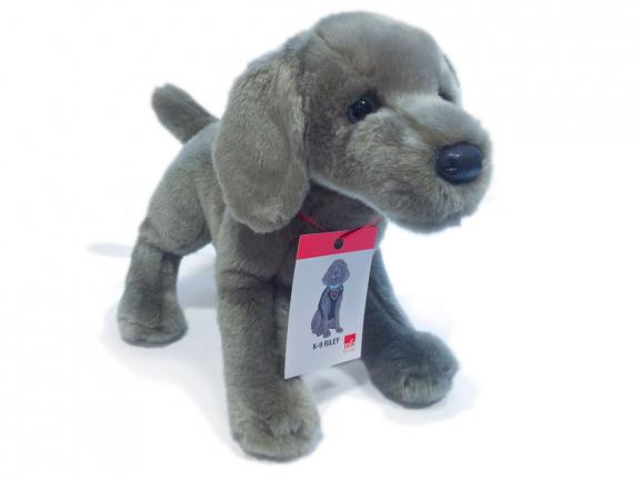 toy stuffed dog in the semblence of Riley the Museum Dog