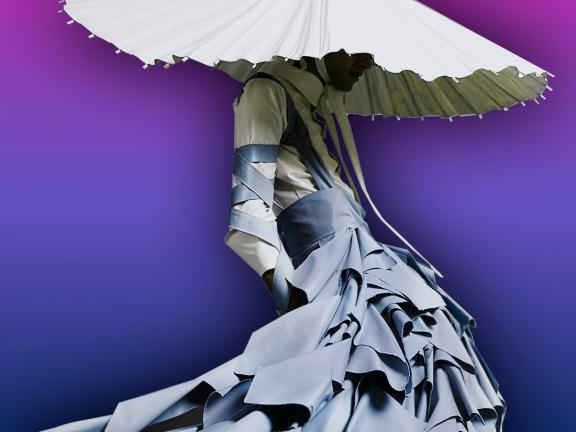 graphic of dress by Alessandro Trincone