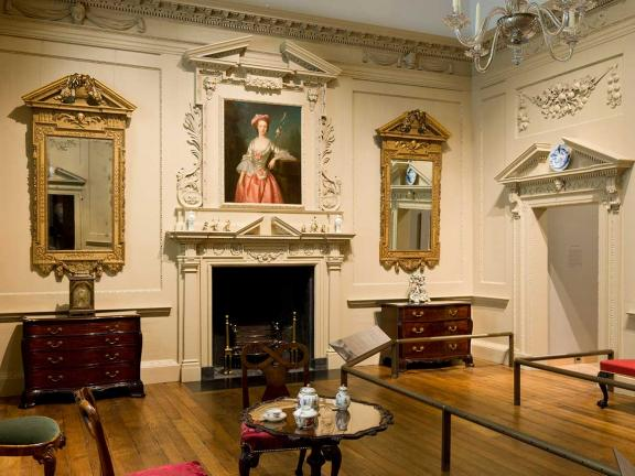 View of Newland House drawing room gallery