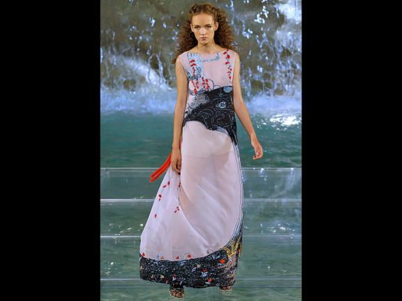Karl Lagerfeld Kay Nielsen Dress on the Runway