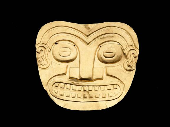 Funerary Mask, Coclé, A.D. 700-1520. Gold alloy.