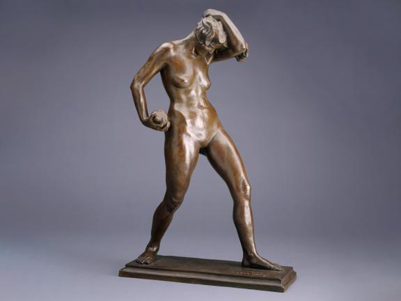 Model of a female figure, Striding Amazon, by Katharine Lane Weems
