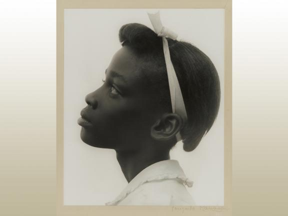 Consuela Kanaga, Young Girl in Profile, 1948. (gradient)