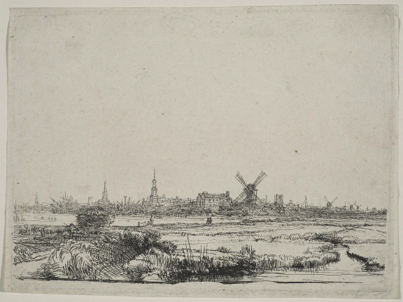 Etching of Amsterdam
