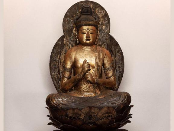 Japanese, late Heian period, Dainichi, the Buddha of Infinite Illumination,  dated 1149