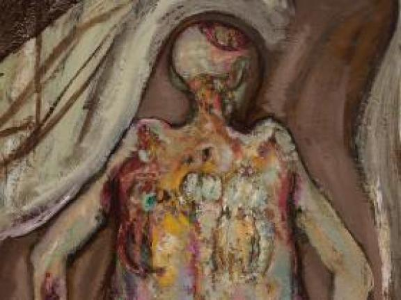 Hyman Bloom_Female Corpse Back View