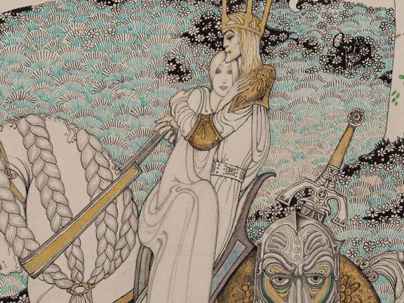Detail of Kay Nielsen's illustration to The Lassie and Her Godmother