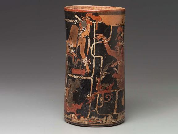 Cylinder vase, Maya, Late Classic Period, A.D. 755–780