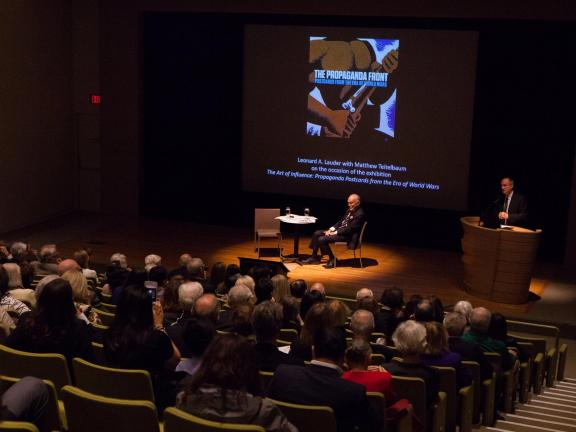 Lauder reception and lecture with Matthew Teitelbaum
