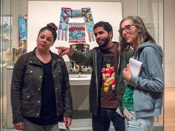Teacher workshop, people in the galleries