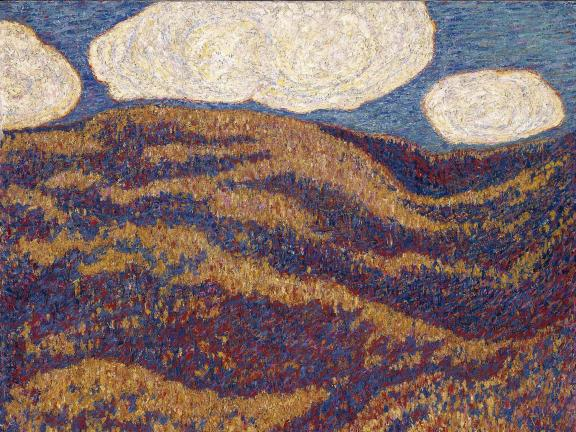 Detail of painting, Carnival of Autumn, by Marsden Hartley