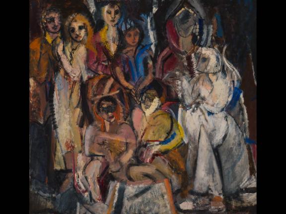 Grace Hartigan, Masquerade, 1954, Oil on canvas