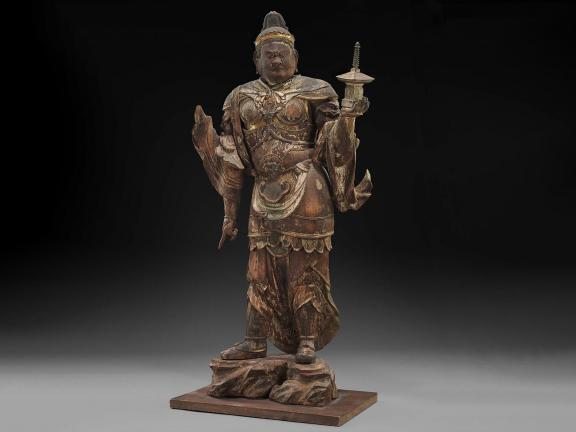 Japanese sculpture of Bishamoten, the Guardian of the North