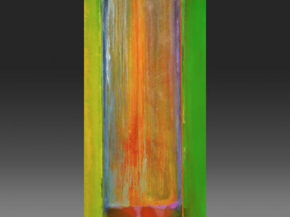Acrylic painting, Suncrush (full with gradient), by Frank Bowling