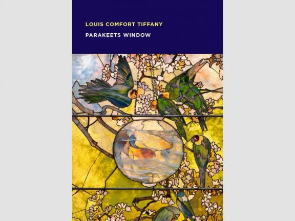 Image of book cover, Louis Comfort Tiffany Parakeets Window Spotlight