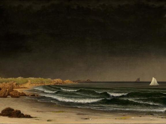 Martin Johnson Heade, Approaching Storm: Beach near Newport, about 1861–62
