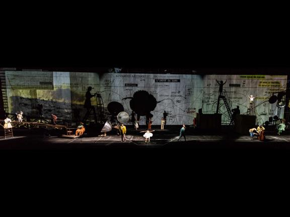 Photo of William Kentridge's The Head & the Load.