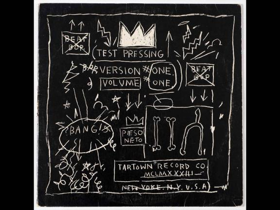 image of Beat Bop album cover by Jean Michel Basquiat
