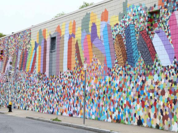 image of Domino Theory mural by Caleb Neelon