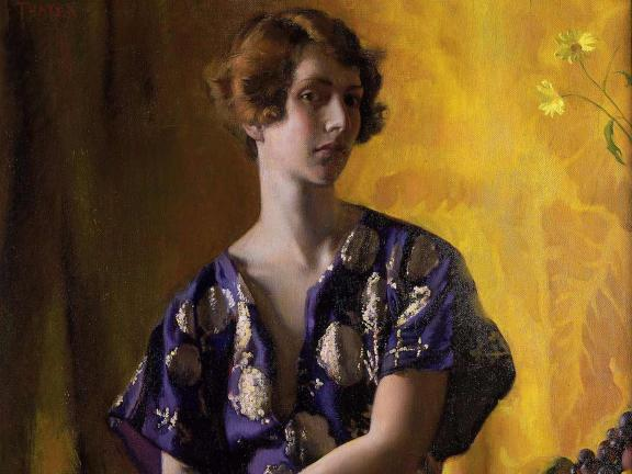 Polly Thayer, Self Portrait: The Algerian Tunic (detail), 1927