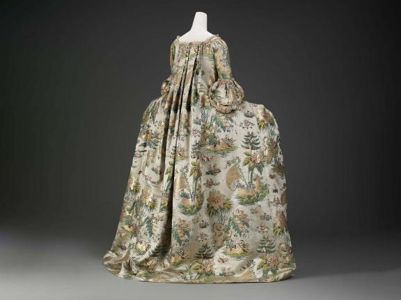 image of Woman's formal dress, possibly Dutch, About 1735