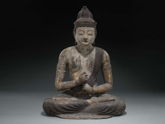 Dainichi, the Buddha of Infinite Illumination, Japanese, late Heian period, later half of the 11th century