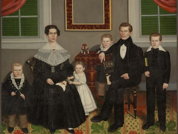 Joseph Moore and His Family, Erastus Salisbury (E.S.) Field