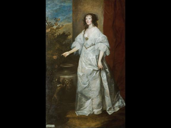 portrait of a woman in gown