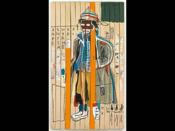 abstract painting of a man by Jean Michel Basquiat