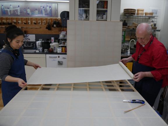 Conservators building screen undercores