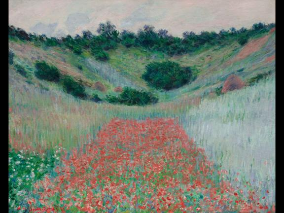 painting of a field of poppies