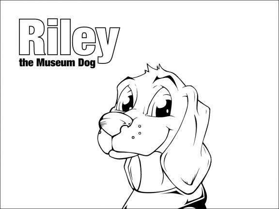 Detail of Riley coloring page