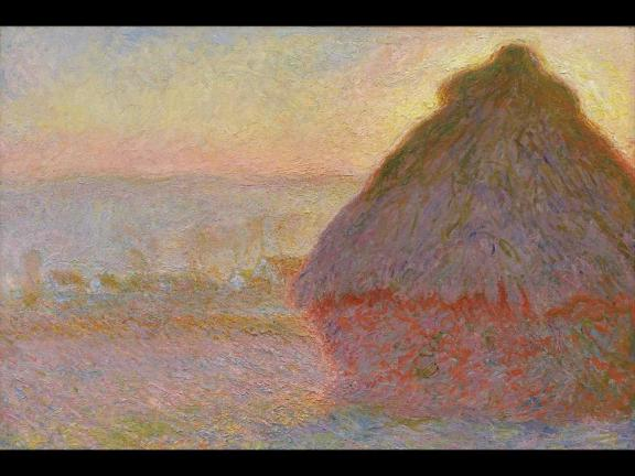 """Grainstack (Sunset),"" 1891, oil on canvas, Claude Monet"