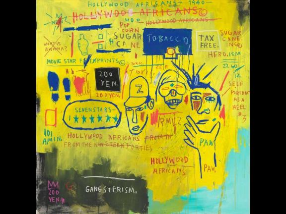 """Hollywood Africans,"" 1983, acrylic and oil stick on canvas, Jean-Michel Basquiat © Estate of Jean-Michel Basquiat. Licensed by Artestar, New York."