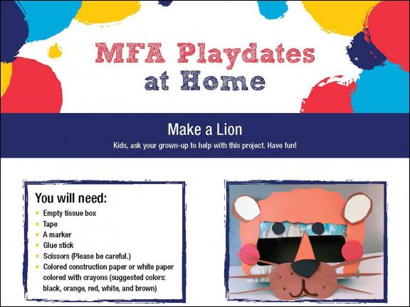 detail of MFA Playdates at Home: Animals activity sheet