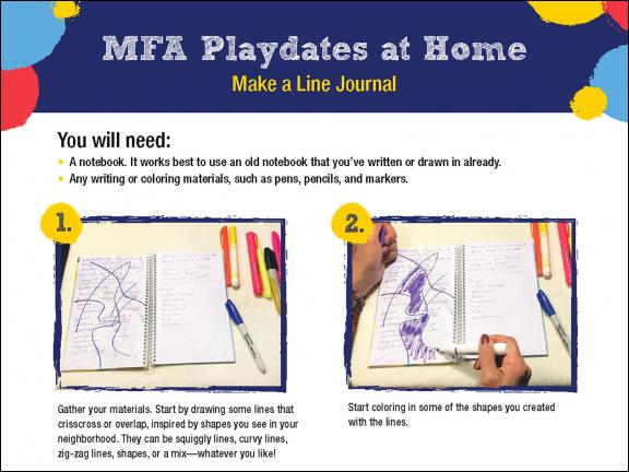 Detail of MFA Playdates at Home: Make a Line Journal activity sheet