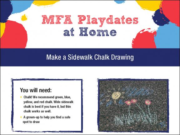 detail of MFA Playdates at Home: In the Meadow activity sheet