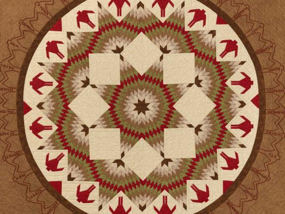 picture of a brown and tan quilt