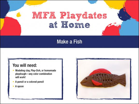 Detail of MFA Playdates at Home: Under the Sea activity sheet
