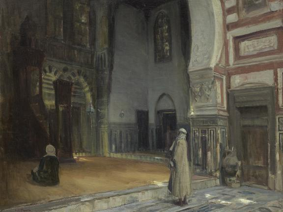 Painting Interior of a Mosque, Cairo