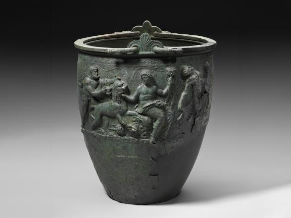 Bronze bucket (situla) with double handles