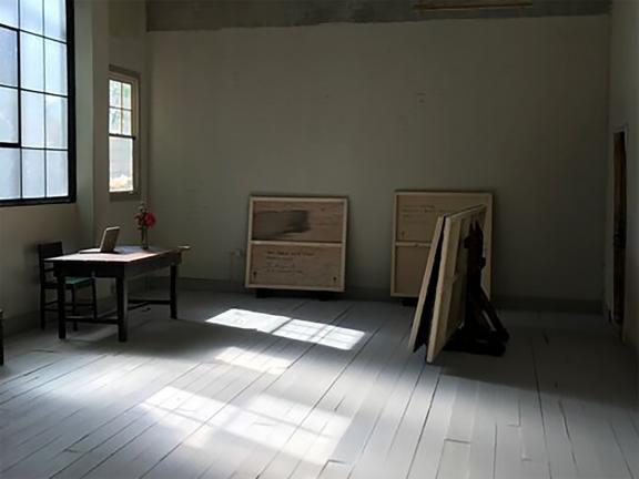 Model of an art studio/gallery