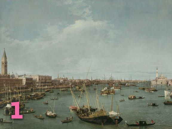 Canaletto's painting, Bacino di San Marco, Venice